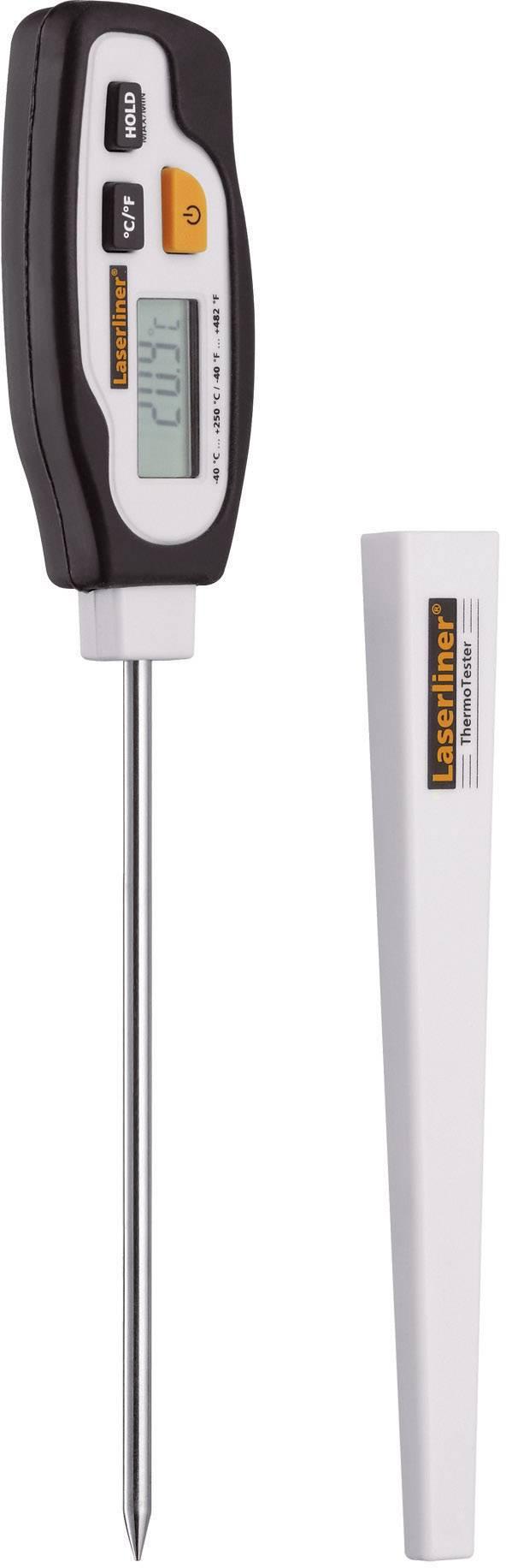 Vpichovací teploměr Laserliner ThermoTester Teplotní rozsah -40 až 250 °C, typ senzoru NTC Kalibrováno dle ISO