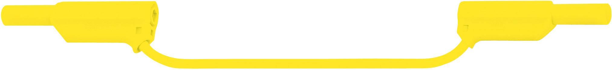 Merací silikónový kábel Multicontact XVS-4075, 0,75 mm², žltý, 1 m
