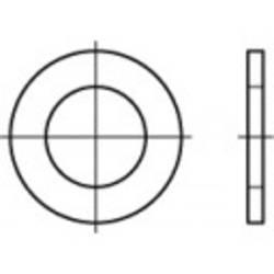 Podložka plochá TOOLCRAFT 1060715, vnitřní Ø: 13 mm, nerezová ocel, 100 ks