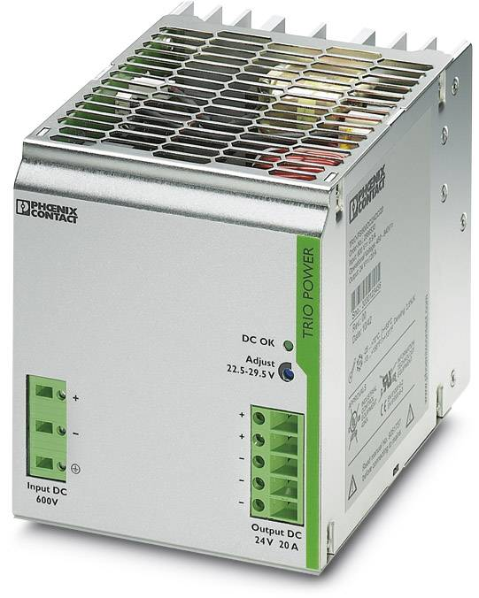 Síťový zdroj na DIN lištu Phoenix Contact TRIO-PS/600DC/24DC/20, 1 x, 24 V/DC, 20 A, 480 W
