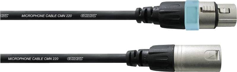Mikrofónny kábel Cordial REAN XLR Female / XLR male 10 m XLR Female / XLR male 10 m čierna