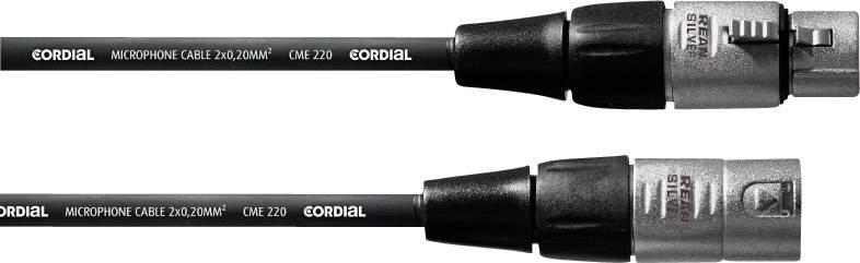 Mikrofónny kábel Cordial 10 m REAN XLR-F / XLR-M 10 m čierna XLR (F) / XLR (M)