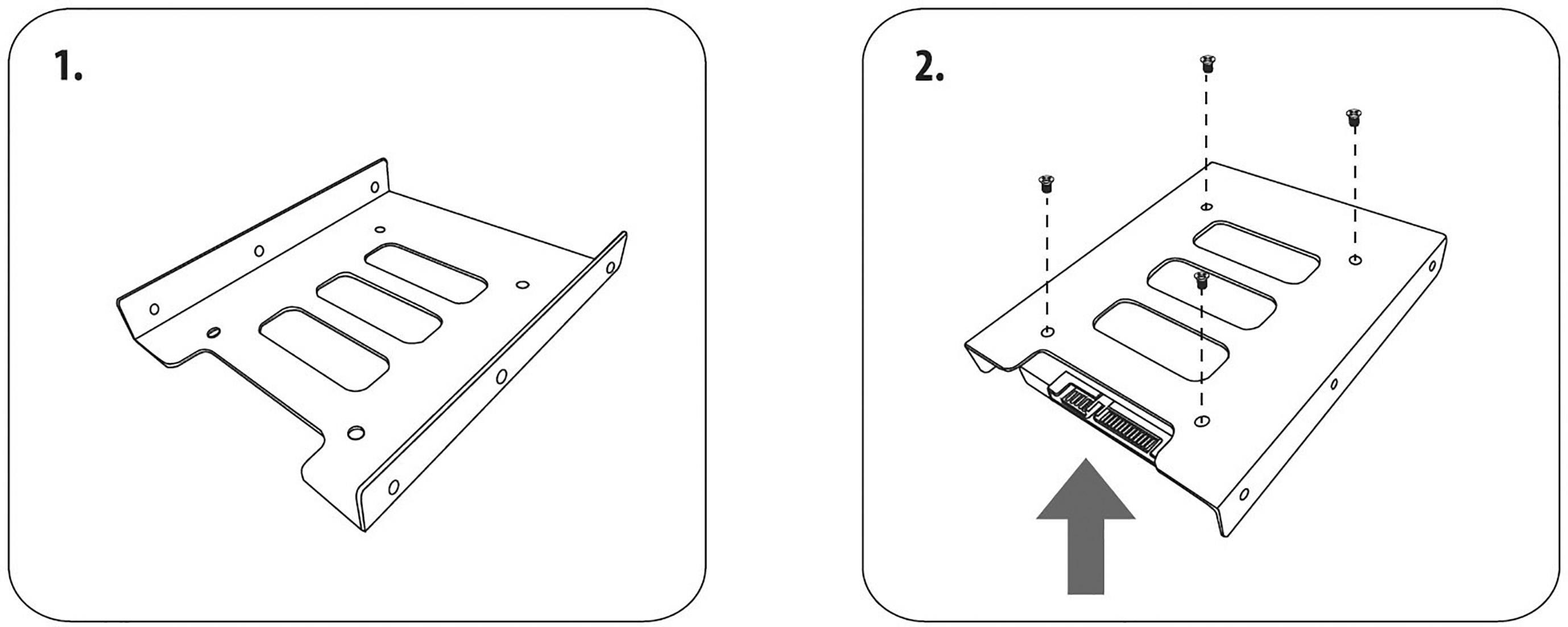 "Adaptér pre uístění 2,5"" pevného disku do 3,5"" pozície Renkforce HDA-250M"