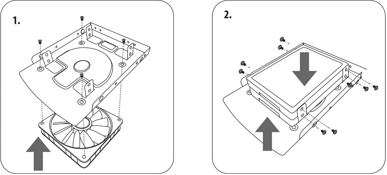 """Adaptér pre umiestnenie dvoch 2,5"""" pevných diskov do 3,5"""" pozície Renkforce HDA-259a"""