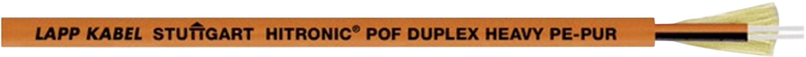 Optický kabel POF LAPP HITRONIC® POF DUPLEX 28020002, Duplex, oranžová, metrové zboží