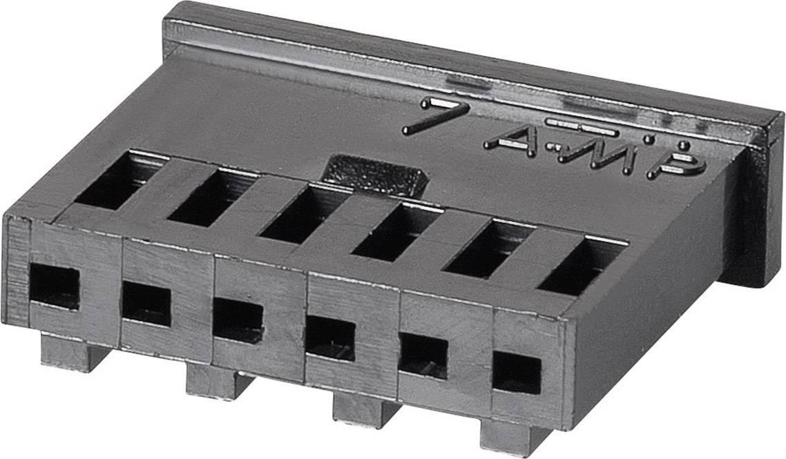 Zásuvkové púzdro na kábel TE Connectivity AMPMODU 280358, 13.7 mm, pólů 2, rozteč 2.54 mm, 1 ks