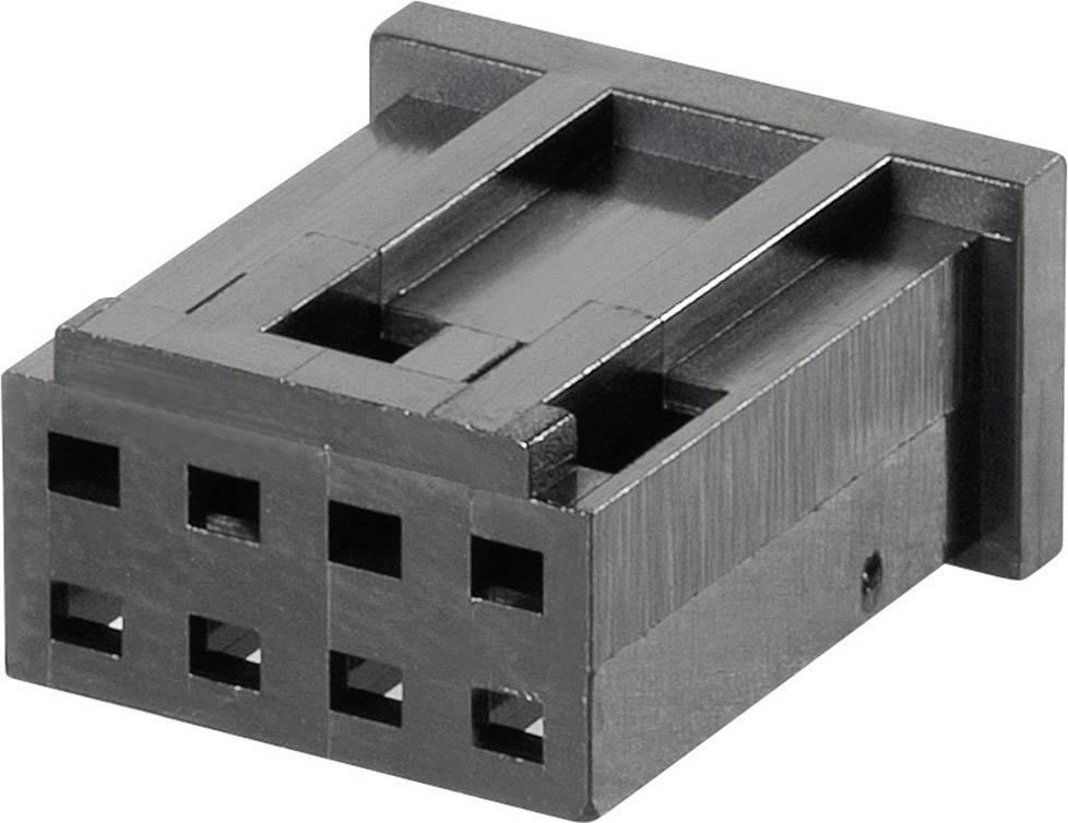 Pouzdro MOD II TE Connectivity 280513, zásuvka rovná, 2,54 mm, černé