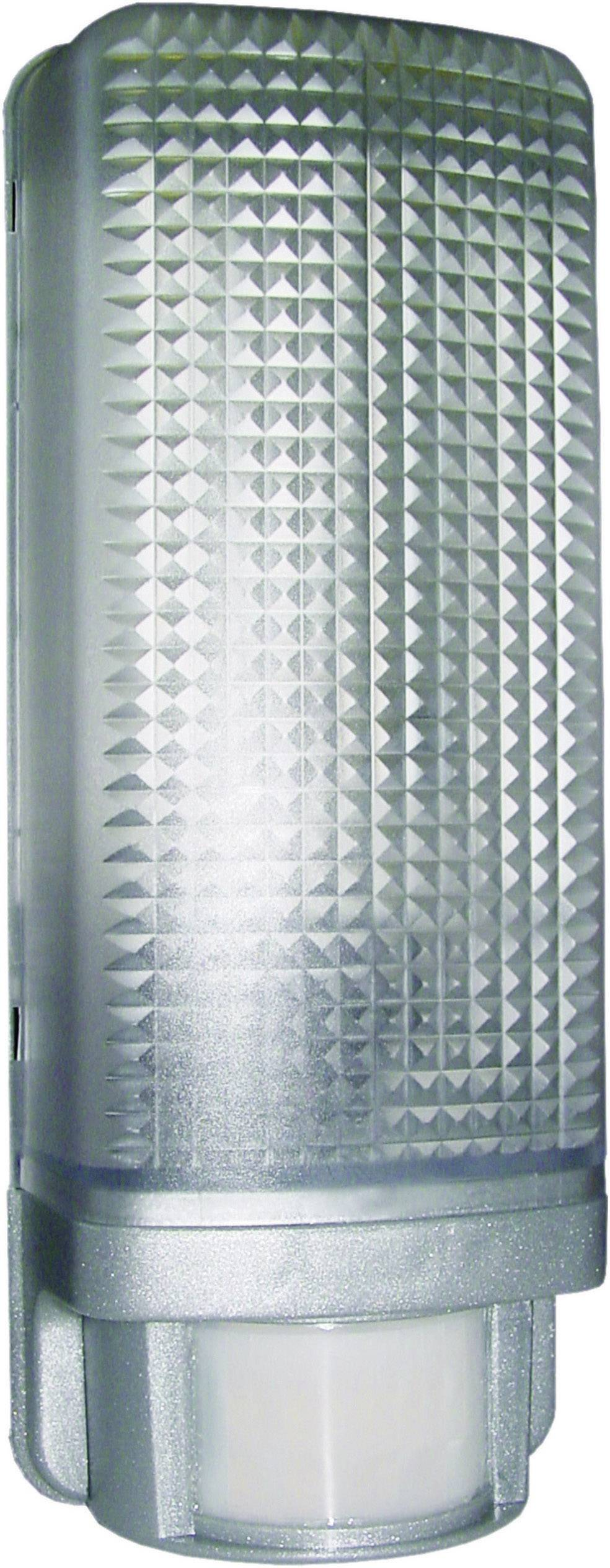 Vonkajšie nástennéosvetleniesPIR senzorom Smartwares ES88A 10.020.75, E27, 13 W, umelá hmota, striebornosivá