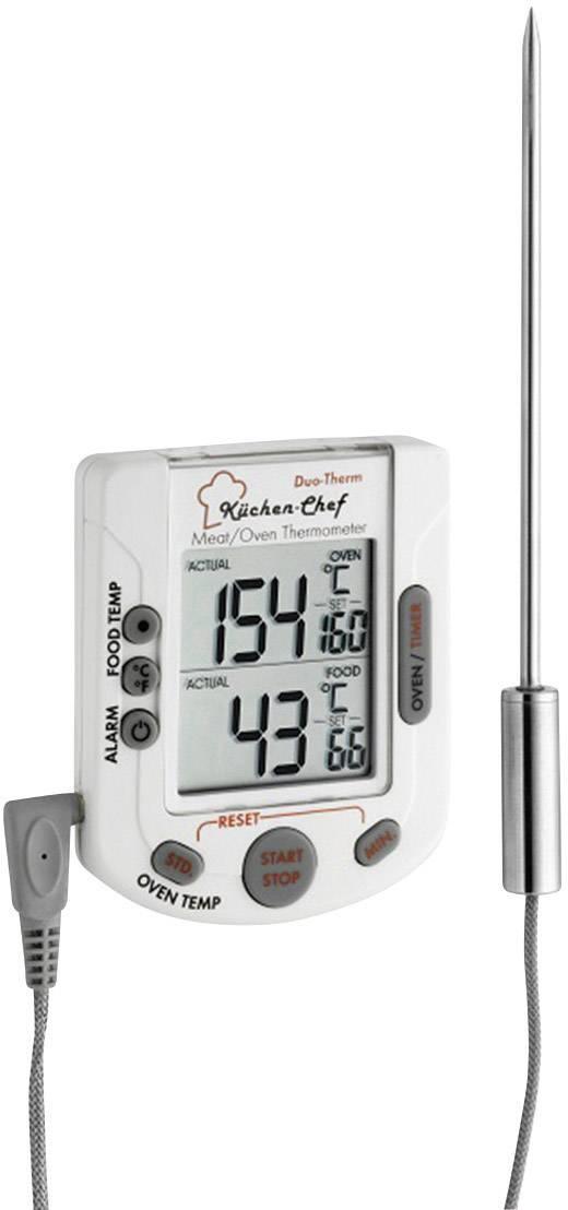Kuchynský teplomer na potraviny pre rúry a meranie telpoty v jadre potravín, s dotykovým displejom, s časovačom, s alarmom TFA 14.1503