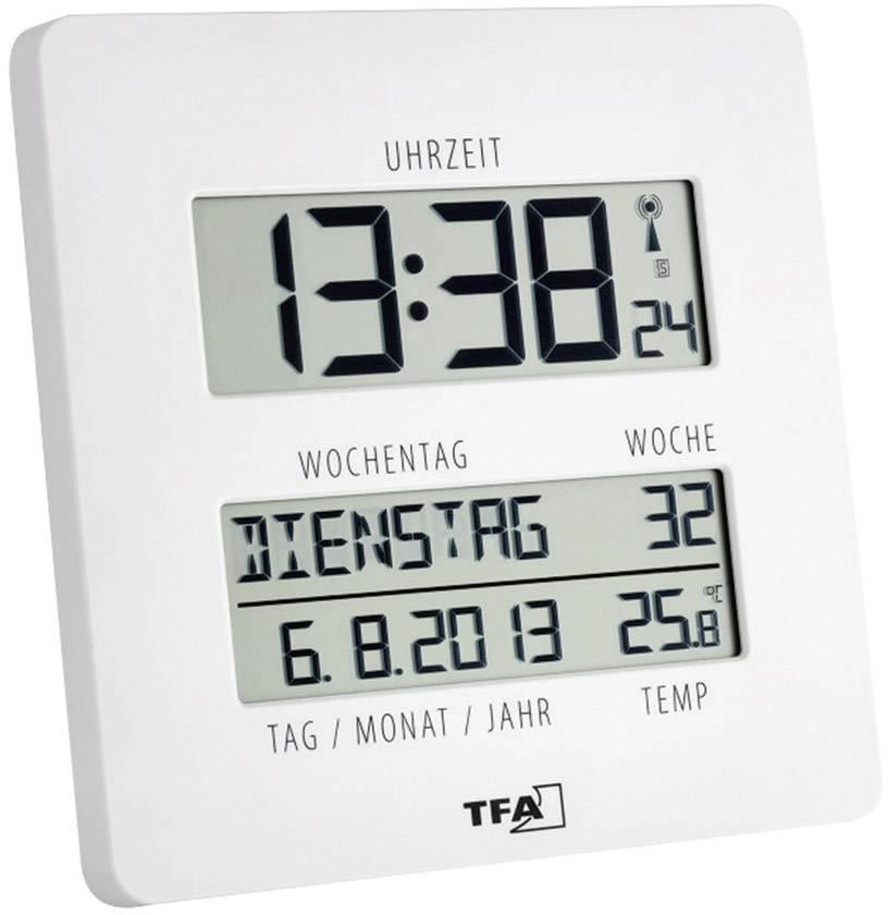 DCF nástenné hodiny TFA Time Line 60.4509.02, biela