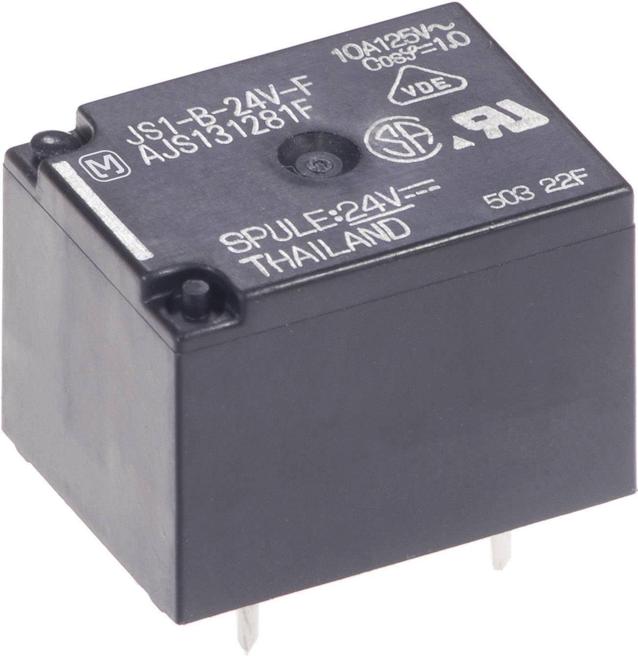 Relé do DPS Panasonic JS1B24FT, 24 V/DC, 10 A, 1 prepínací, 1 ks