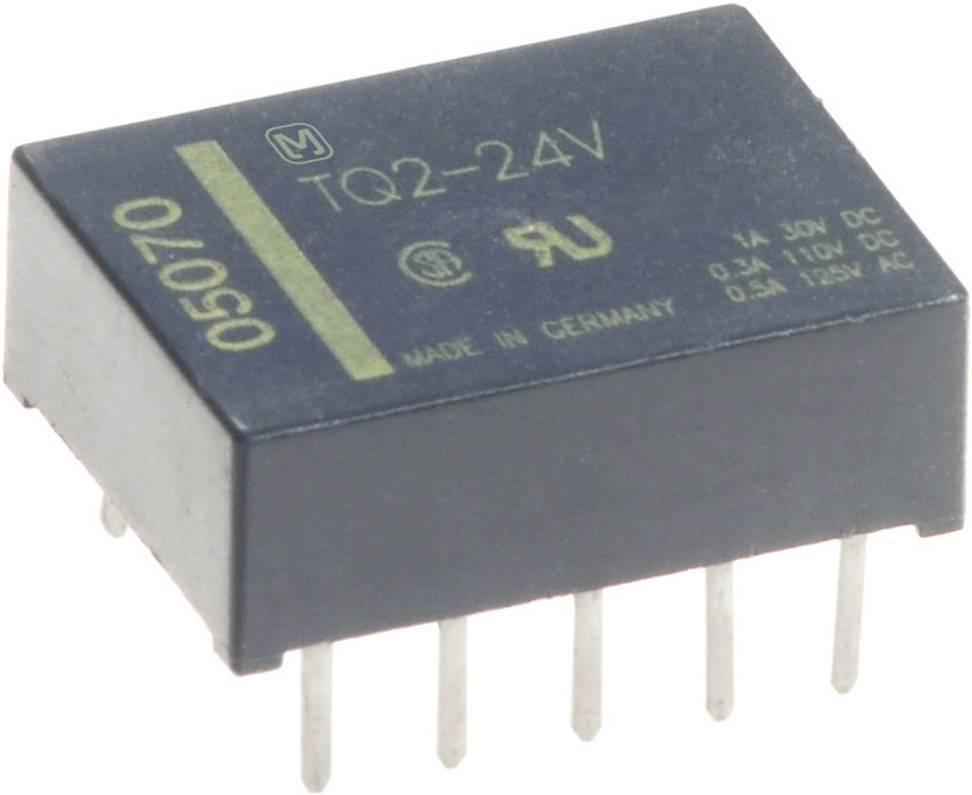 Signálové relé TQ 1 A, 2x přep.kont., Print 12 V/DC 2 přepínací kontakty Panasonic TQ212 1 ks