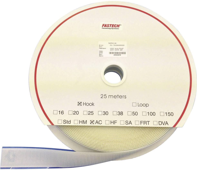 Samolepicí páska na suchý zip (háčky) Fastech T0101600000225, 25 m x 16 mm, bílá, 25 m
