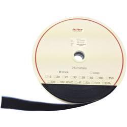 Samolepicí páska na suchý zip (háčky) Fastech T0102099990225, 25 m x 20 mm, černá, 25 m