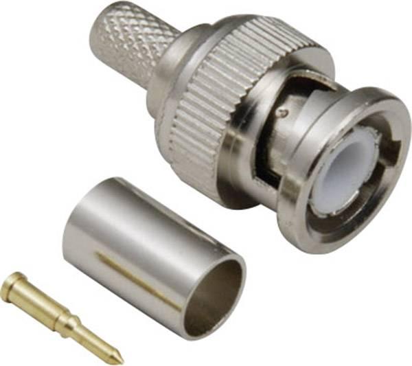 BNC konektor zástrčka, rovná BKL Electronic 0401255/D, 50 Ohm, 1 ks
