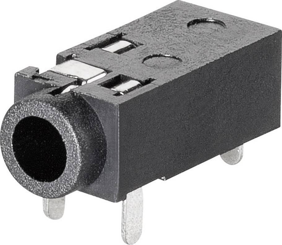 Jack konektor 2,5 mm 4pól. stereo BKL Electronic 1109200, zásuvka vestavná horizontální