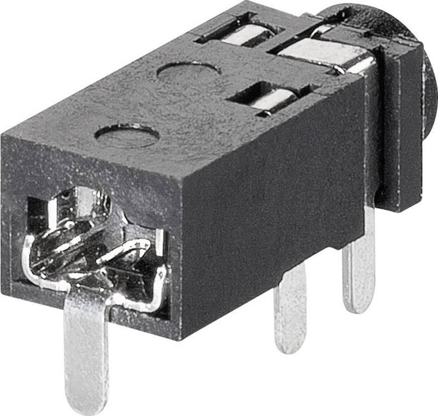 Jack konektor 2.5 mm stereo zásuvka, vstavateľná horizontálna BKL Electronic 1109200, pinov 4, 1 ks