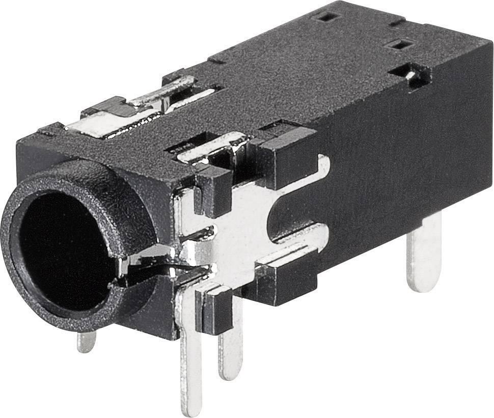 Jack konektor 3.5 mm stereo zásuvka, vstavateľná horizontálna BKL Electronic 1109302, pinov 4, 1 ks