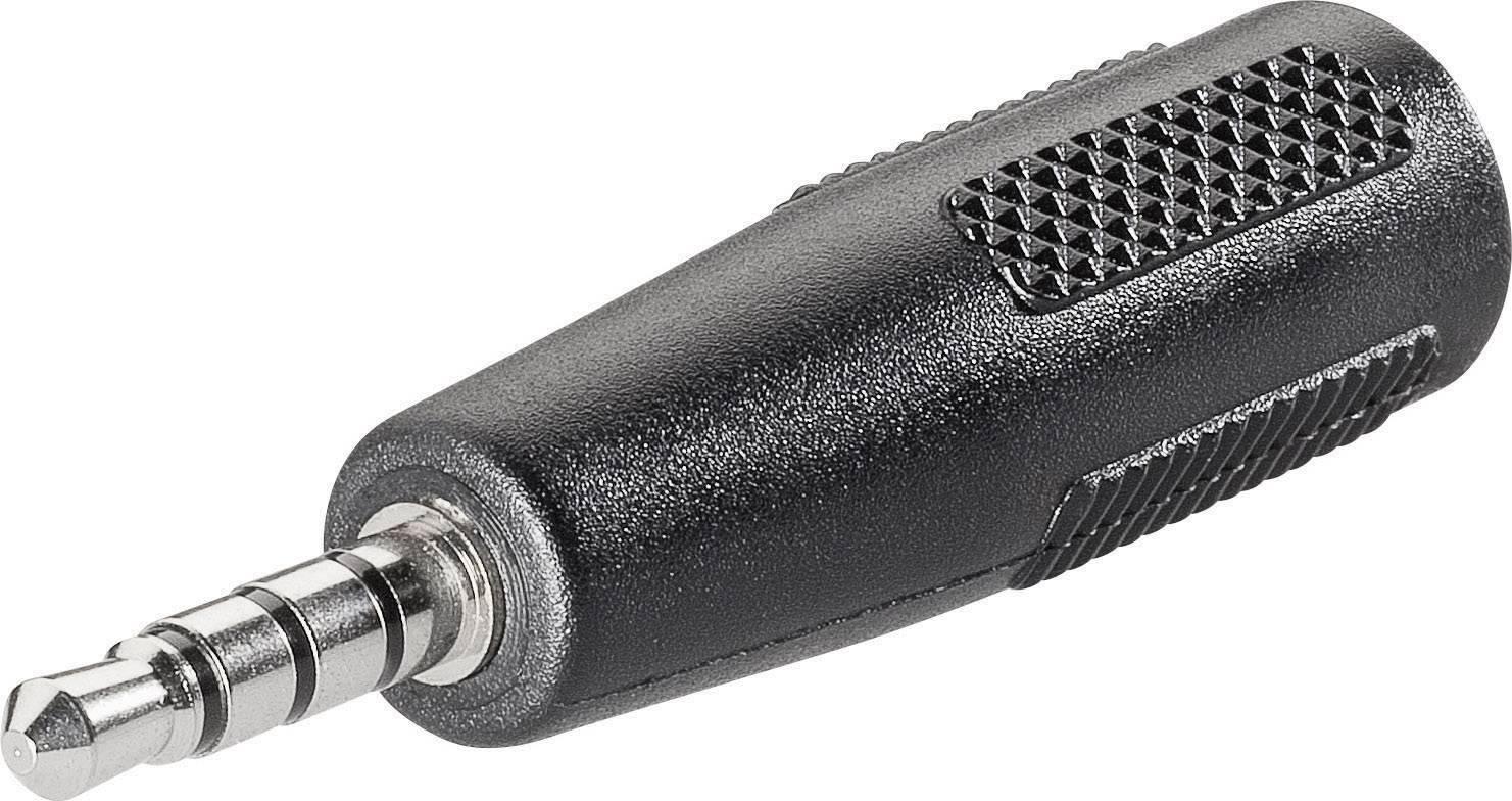 Adaptér jack BKL Electronic 1102058, jack zástrčka 3,5 mm - jack zásuvka 2,5 mm, stereo, pólů 4, 1 ks