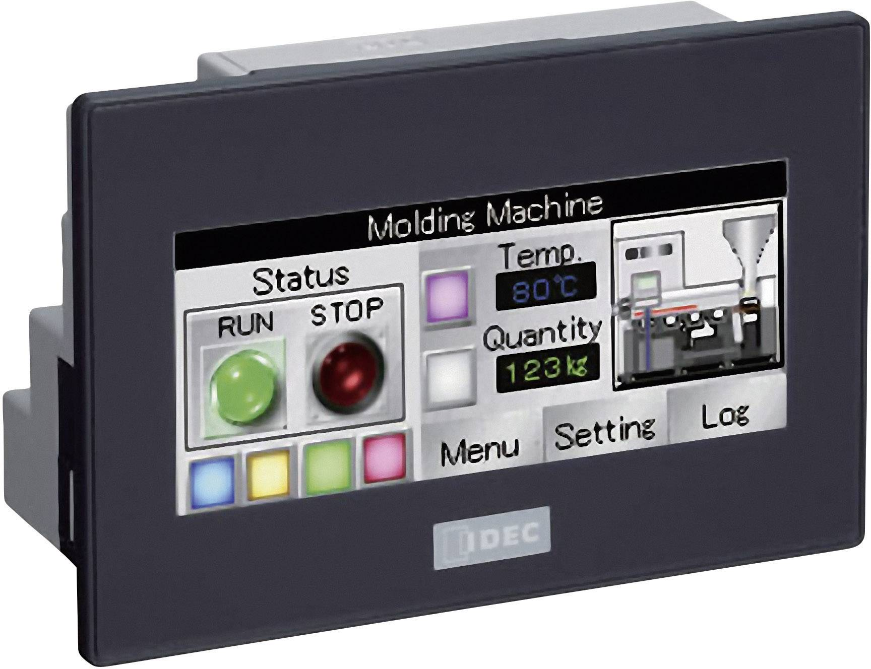 Dotykový panel s integrovaným ovládáním pro PLC Idec SmartAXIS Touch FT1A-C12RA-B, 24 V/DC