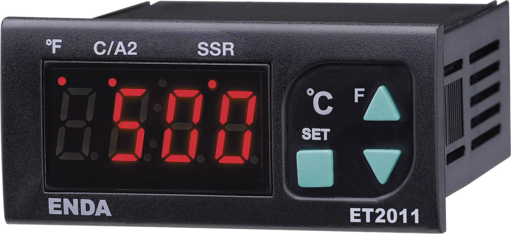 Termostat Enda ET2011-RT-230, druh čidla Pt100, -100 do +600 °C