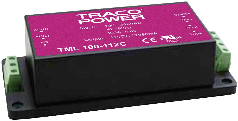 Síťový zdroj do DPS TracoPower TML 100-148C, 100 W, 48 V/DC