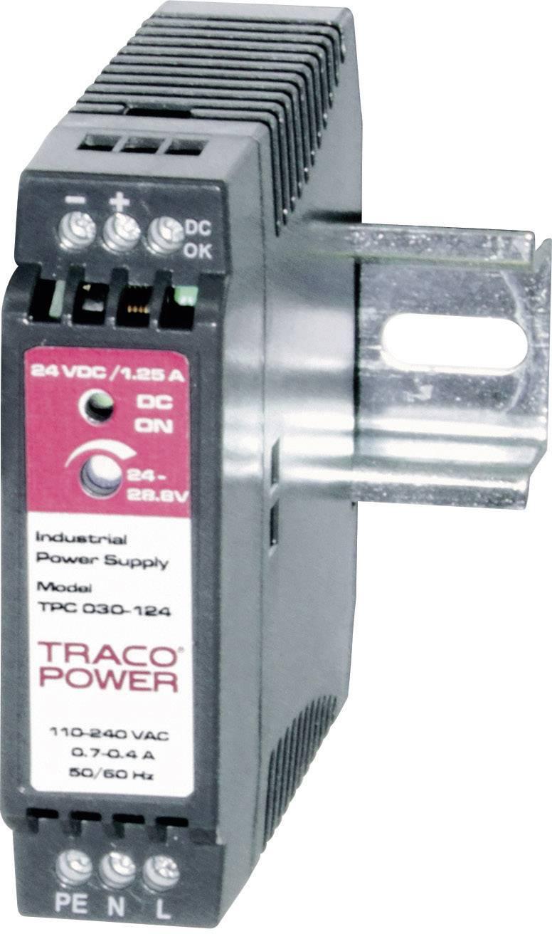 Zdroj na DIN lištu TracoPower TPC 030-112, 12 - 15 V/DC, 2,2 A