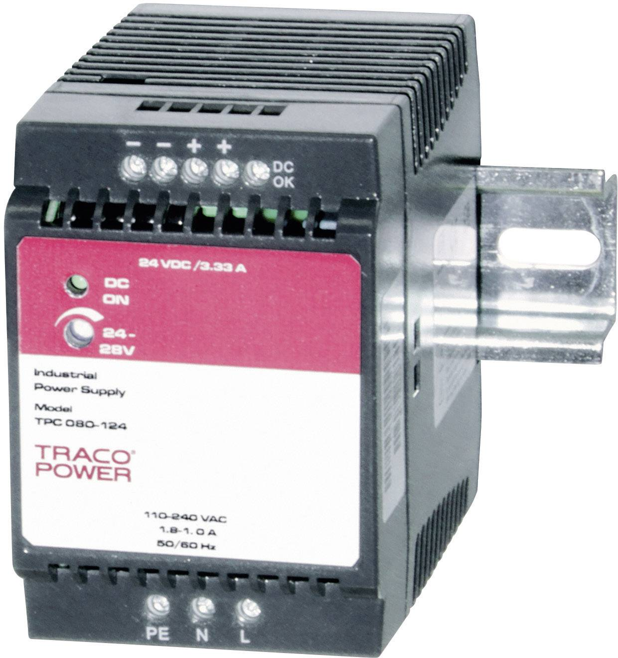 Zdroj na DIN lištu TracoPower TPC 080-148, 48 - 56 V/DC, 1,7 A