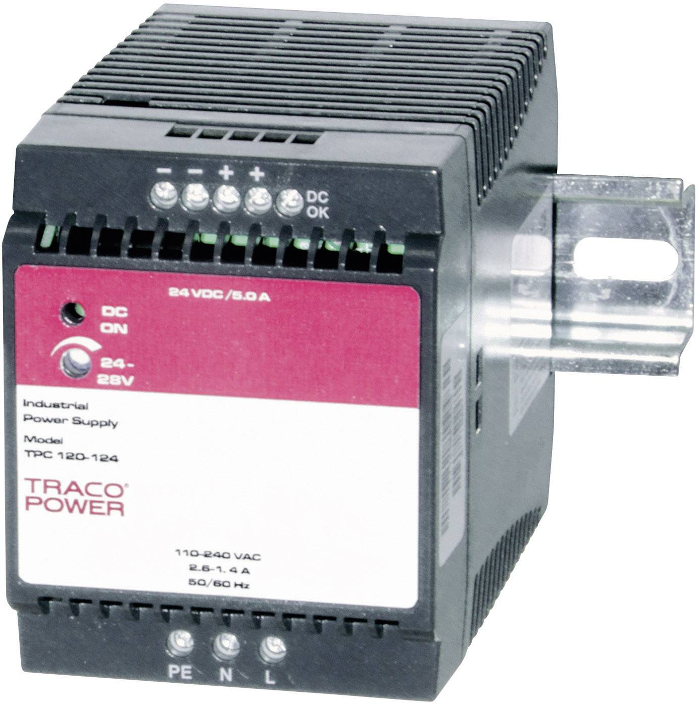Zdroj na DIN lištu TracoPower TPC 120-112, 12 - 15 V/DC, 8 A