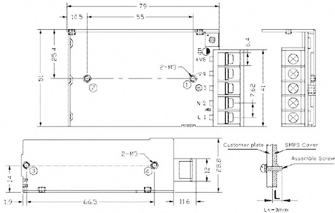 Vestavný napájecí zdroj TracoPower TXM 015-103, 15 W, 3,1 - 3,6 V/DC