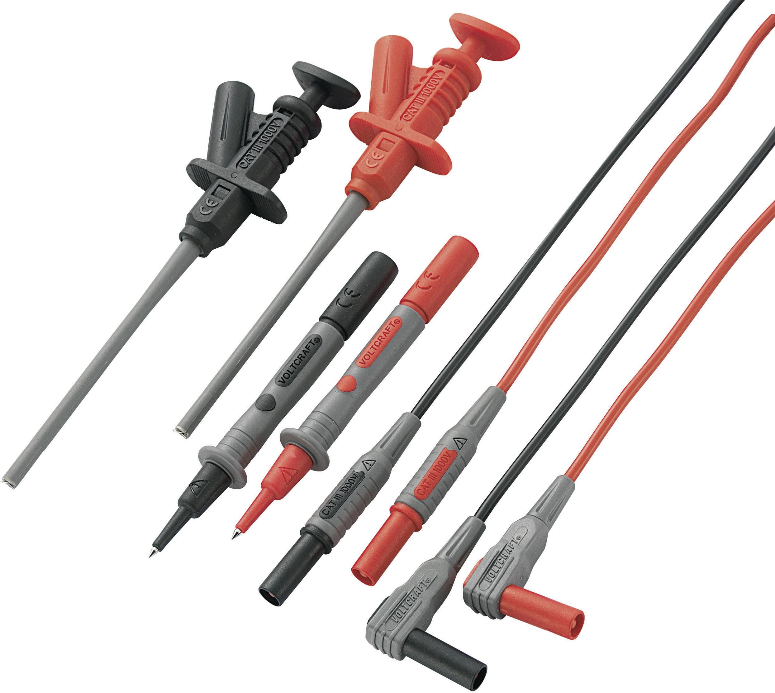 Sada měřicích kabelů Voltcraft MS-6, banánek 4 mm ⇔ banánek 4 mm, černá/červená, 1,2 m
