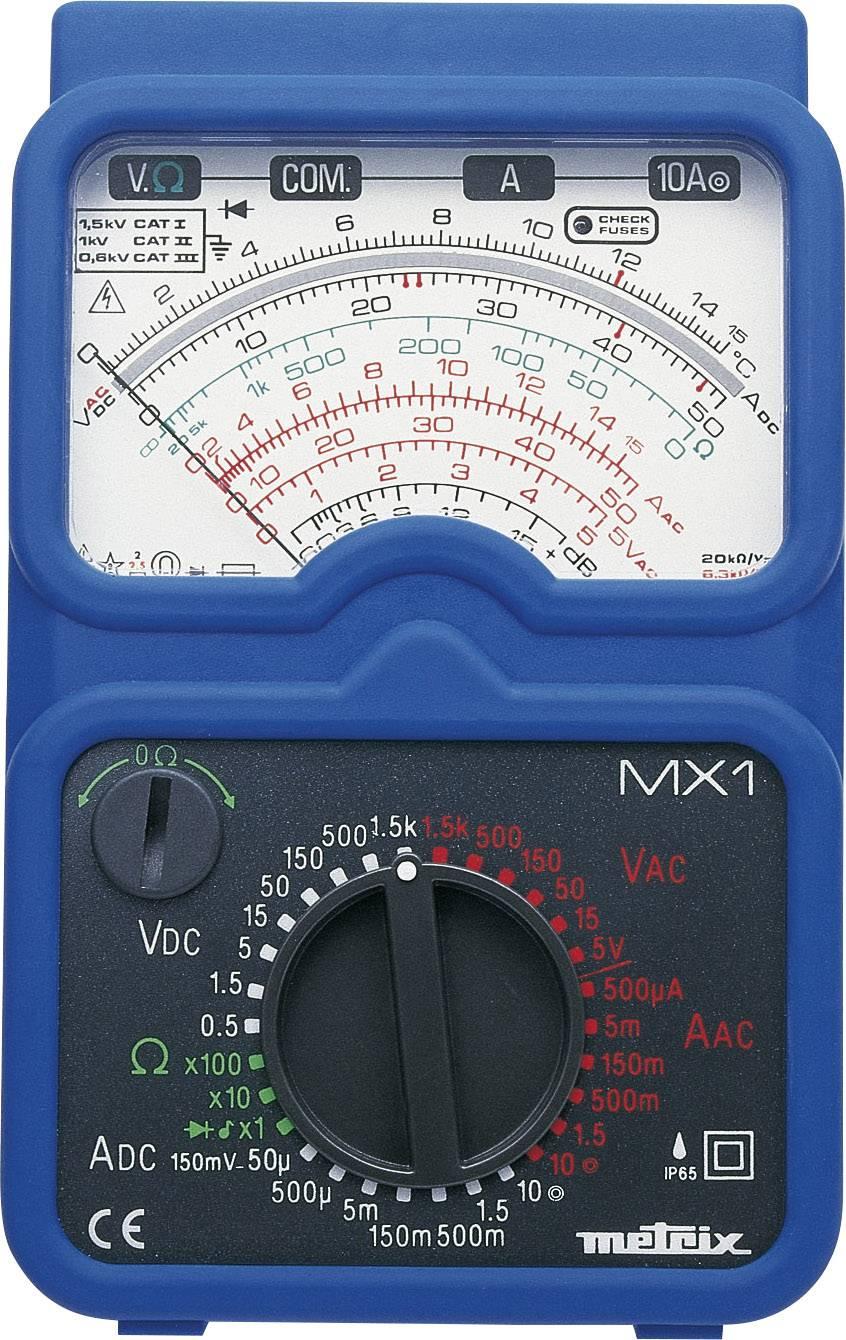 Analógový ručný multimeter Metrix MX1 MX1, ochrana proti vode (IP65)