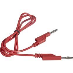 VOLTCRAFT měřicí kabel [lamelová zástrčka 4 mm - lamelová zástrčka 4 mm] červená, 1.00 m