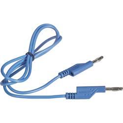 VOLTCRAFT měřicí kabel [lamelová zástrčka 4 mm - lamelová zástrčka 4 mm] modrá, 1.00 m