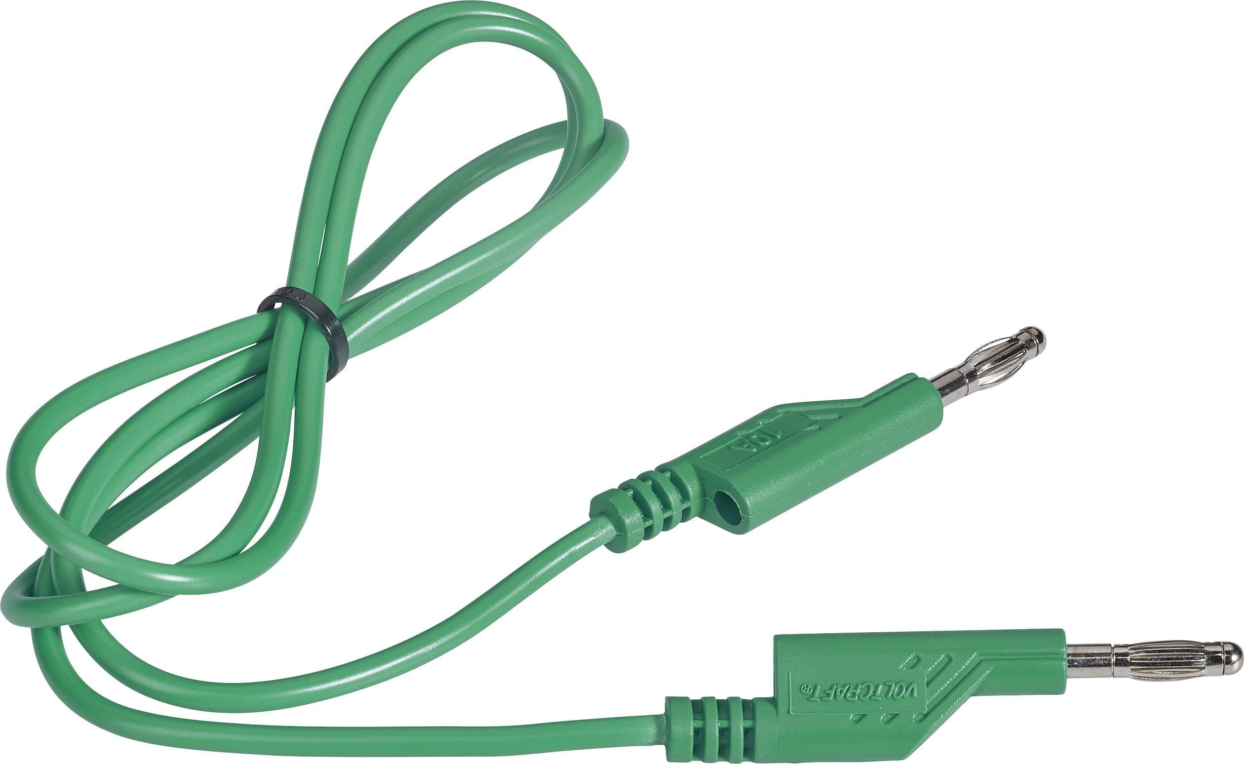 Merací kábel Voltcraft 1 mm², 4 mm, 1 m, zelený