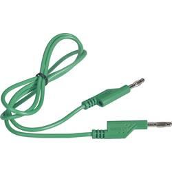 VOLTCRAFT měřicí kabel [lamelová zástrčka 4 mm - lamelová zástrčka 4 mm] zelená, 1.00 m