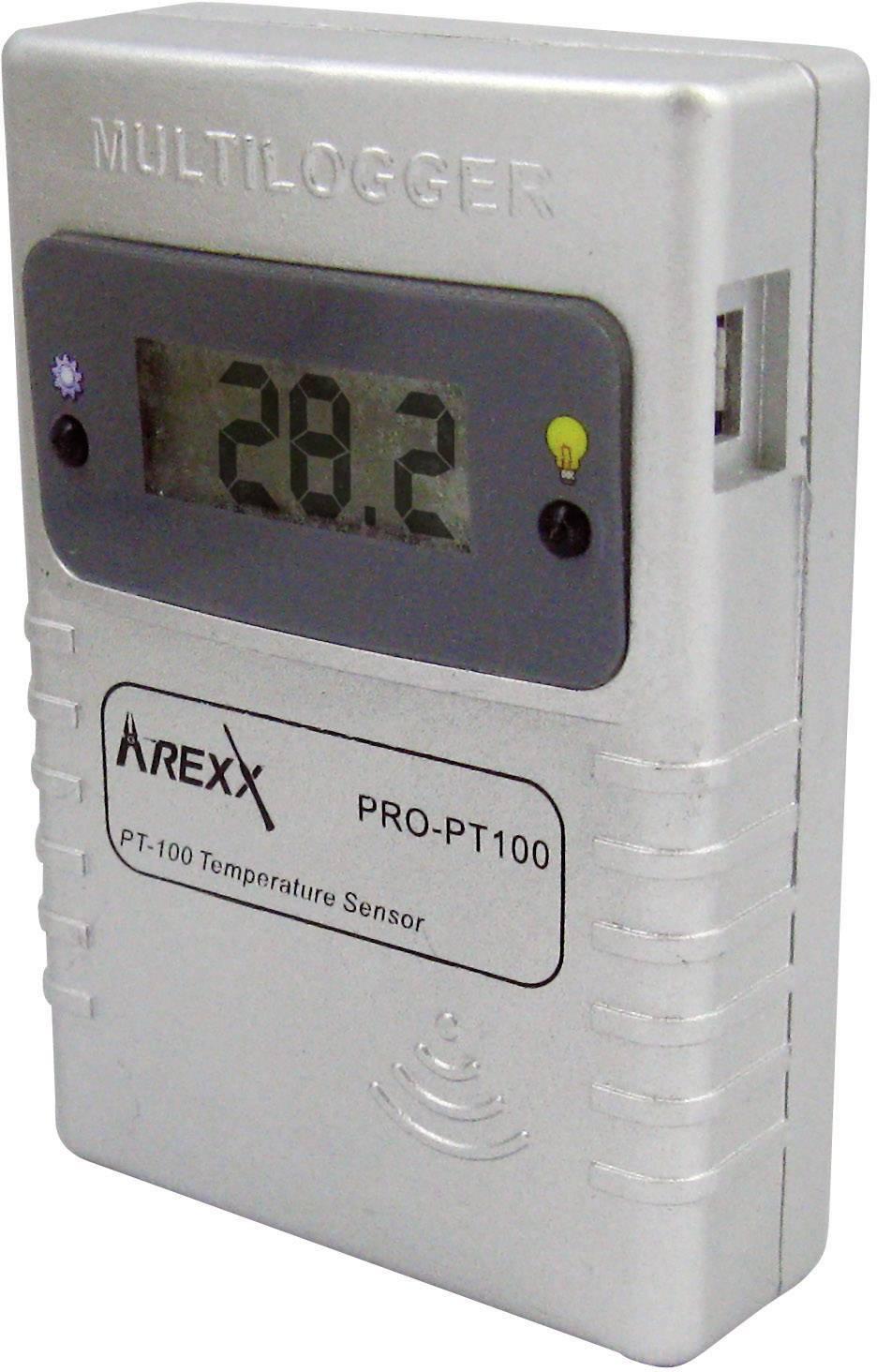 Teplotný datalogger Arexx PRO-PT100, -200 až +400 °C