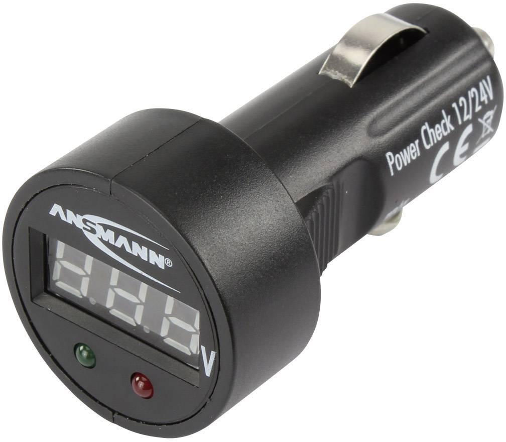 Malý digitálny voltmeter do autozásuvky 12/24 V, čierny