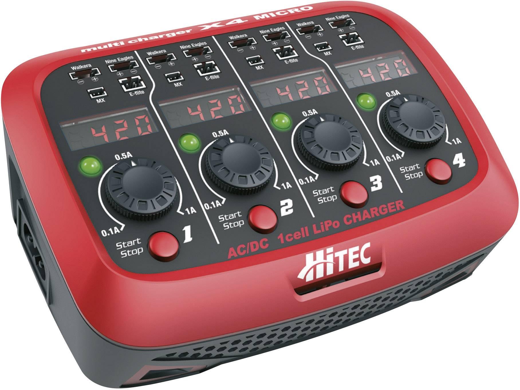 Modelářská nabíječka Hitec X4 Micro 114123, 110 V, 220 V, 1 A