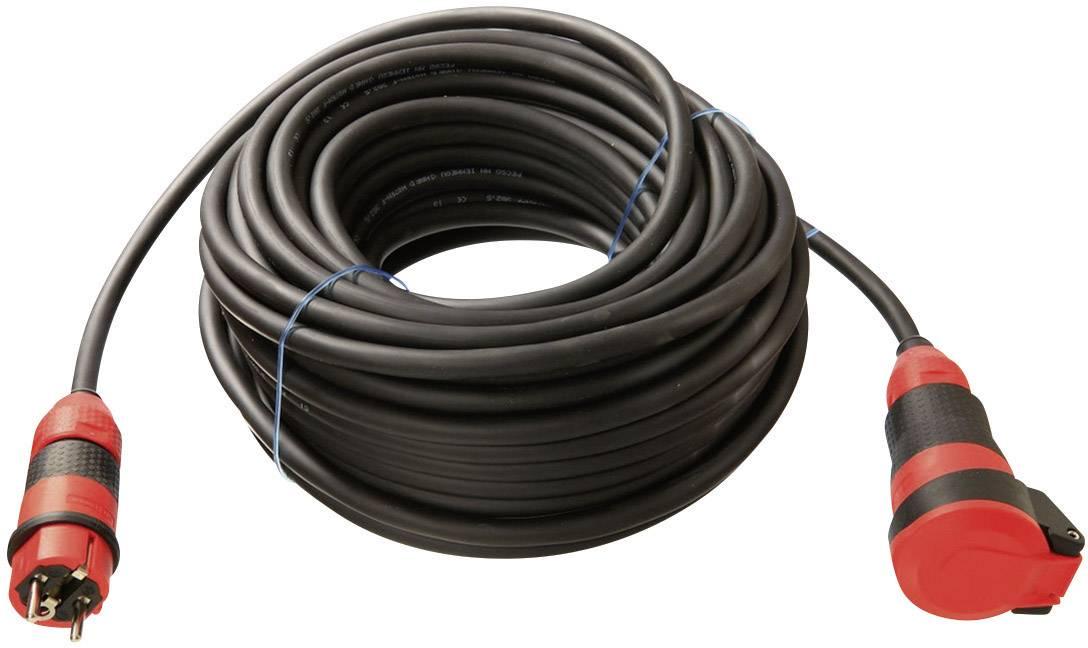 Napájací predlžovací kábel as - Schwabe 62250, IP54, čierna, 10 m