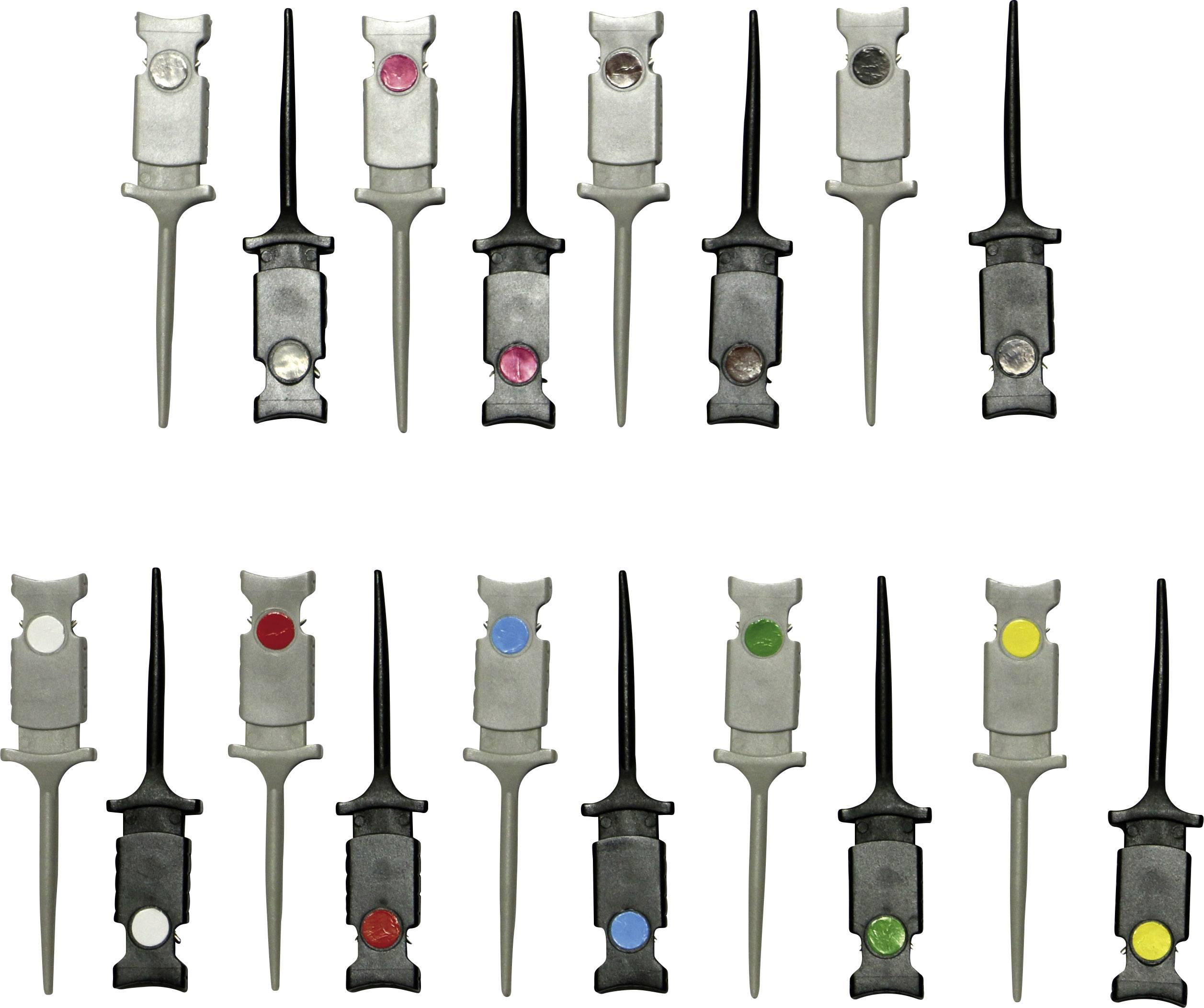 Sada měřicích háčků Voltcraft, Ø 0.64 mm, 18 ks různé barvy