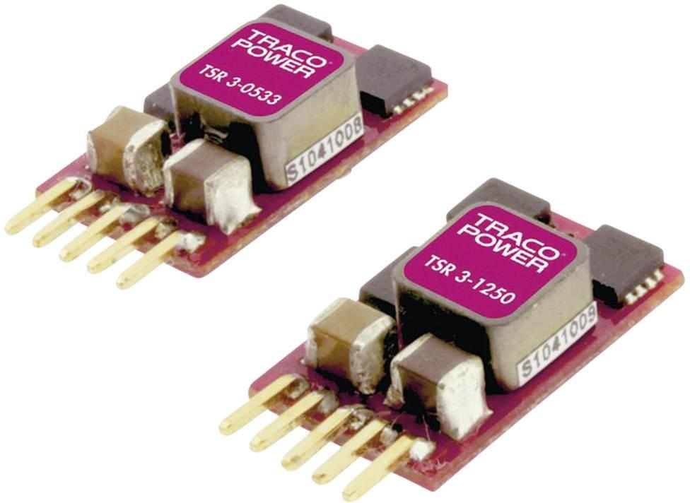 DC / DC menič napätia, DPS TracoPower TSR 3-2450, 24 V/DC, 6 V/DC, 3 A, Počet výstupov 1 x