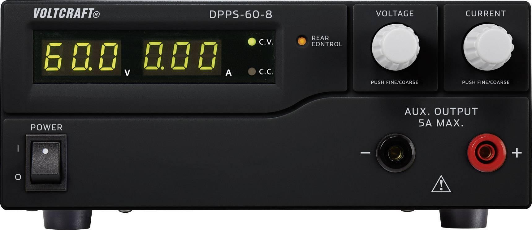 Spínaný laboratórny zdroj Voltcraft DPPS-60-8, 1 - 60 V/DC, 8 A