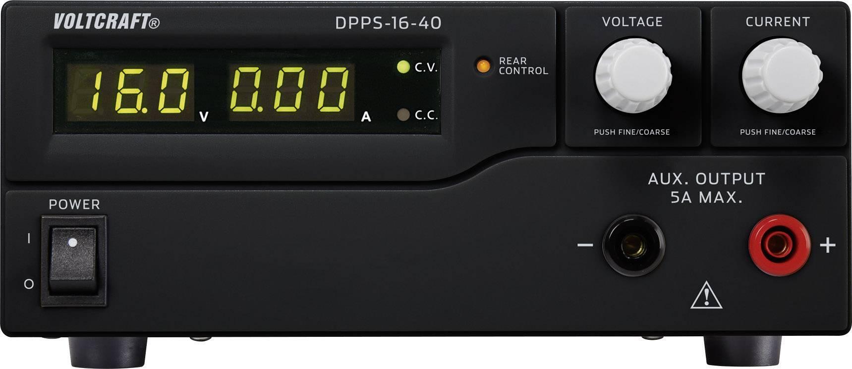 Spínaný laboratórny zdroj Voltcraft DPPS-16-40, 1 - 16 V/DC, 40 A