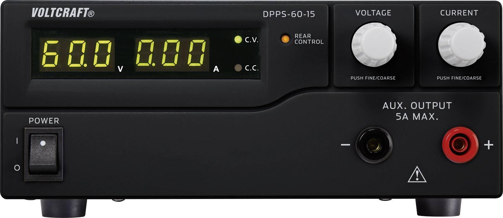 Spínaný laboratórny zdroj Voltcraft DPPS-60-15, 1 - 60 V/DC, 15 A