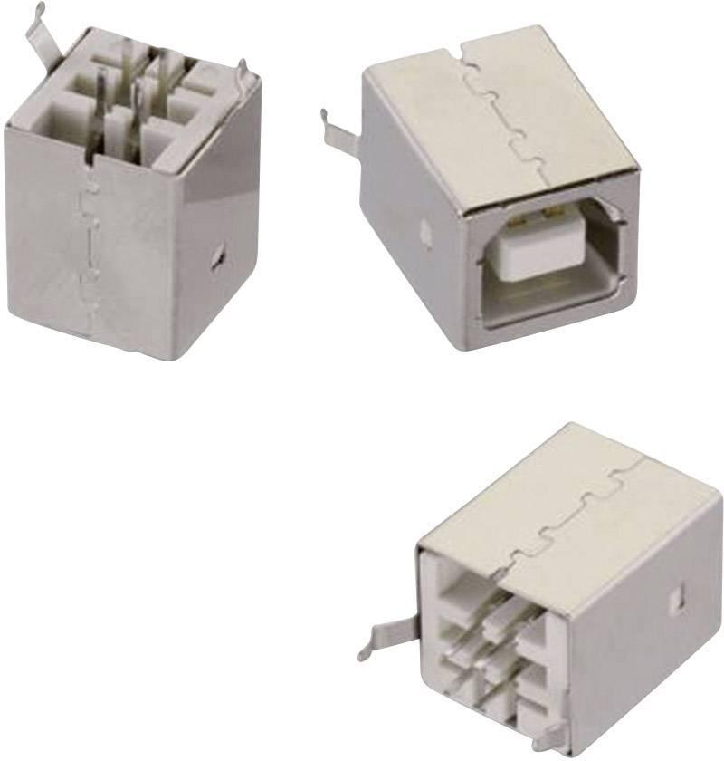 USBvestavná zásuvka Typ B Würth Elektronik 61400413321, 30 V, bílá