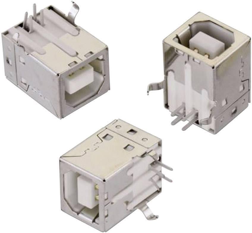 USB 2.0 zásuvka, vstavateľná vertikálna Würth Elektronik WR-COM 61400416121, biela, 1 ks