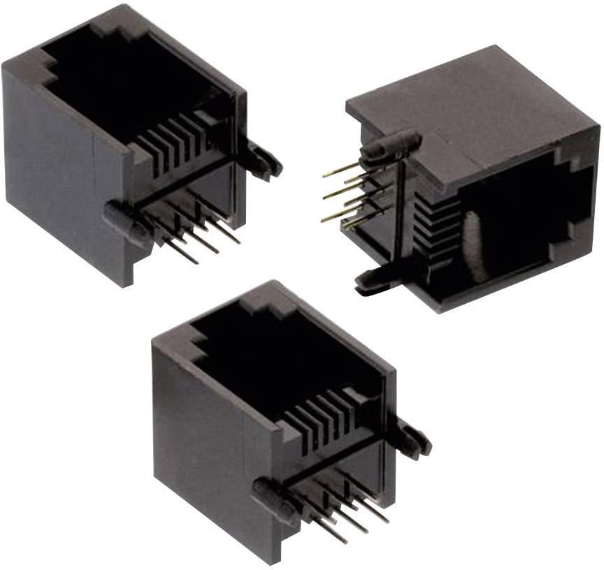 RJ45 konektor Würth Elektronik 615006138421 zásuvka, vestavná vertikální, černá, 1 ks