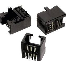 RJ45 konektor Würth Elektronik 615008137121 zásuvka, vestavná horizontální, černá, 1 ks
