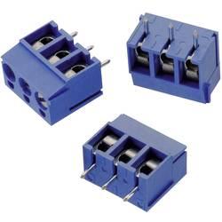 Skrutkovacia svorka Würth Elektronik WR-TBL 101 691101710003, 2.08 mm², Počet pinov 3, modrá, 1 ks